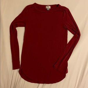 Dark Red Super Soft long Sleeve Shirt